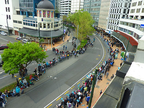 Ticker Tape Parade in Wellington