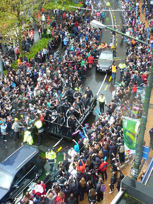 Ticker Tape Parade in Wellington