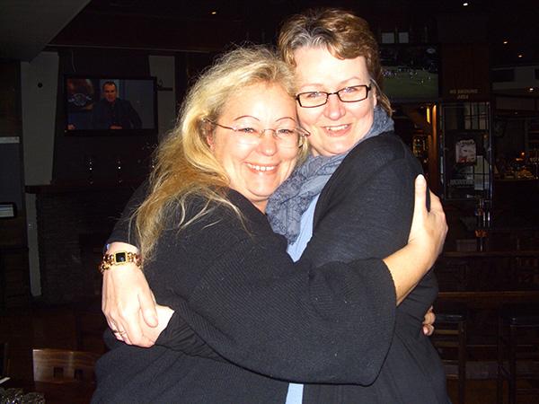 Sabine & Jacky im Old Bailey