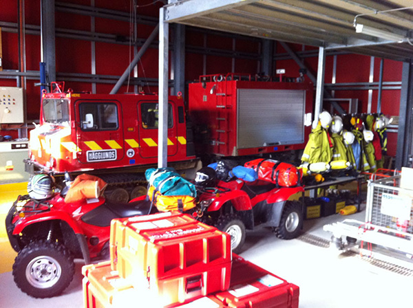 Feuerwehr in der Antarktis
